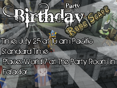 bday party runescape